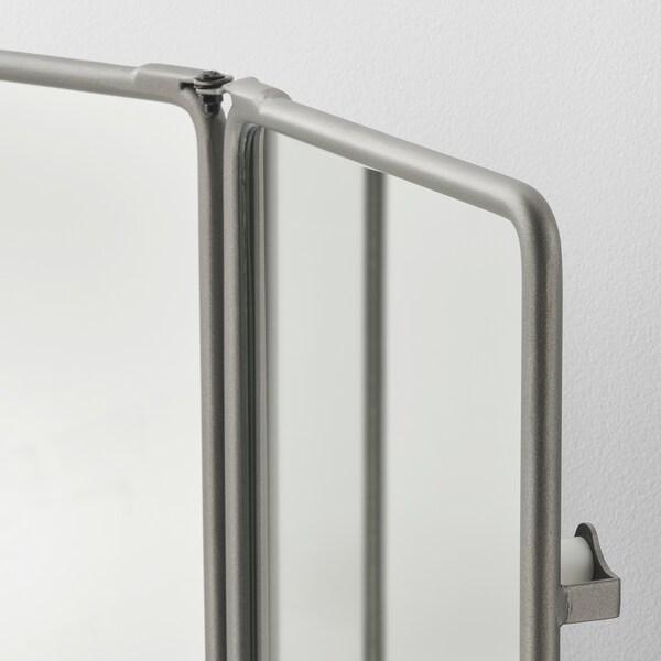 SYNNERBY Tredelad spegel, grå, 90x48 cm