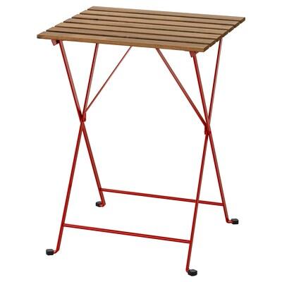 TÄRNÖ Bord, utomhus, röd/ljusbrunlaserad, 55x54 cm
