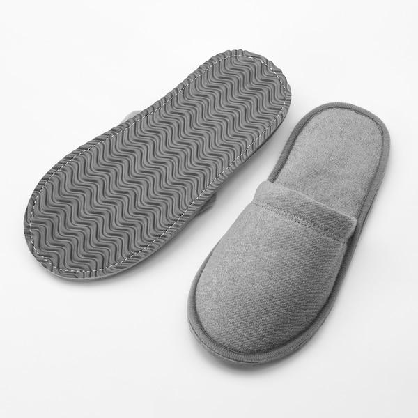 TÅSJÖN Morgontofflor, grå, S/M