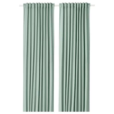 TIBAST Gardiner, 1 par, grön, 145x300 cm