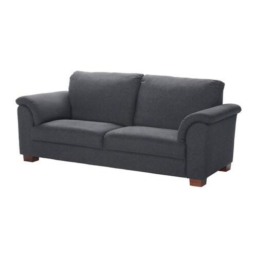 TIDAFORS 3-sits soffa, Edsken mörkgrå Bredd: 230 cm Djup: 95 cm Höjd: 99 cm Frihöjd under möbel: 8 cm Sitsbredd: 158 cm Sitsdjup: 59 cm Sitshöjd: 47 cm