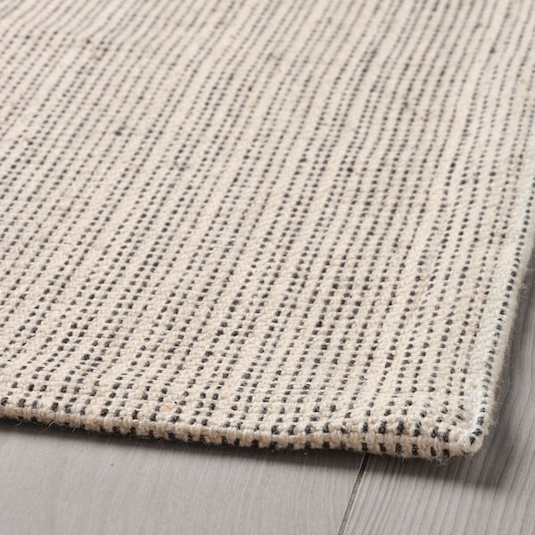 TIPHEDE Matta, slätvävd, natur/off-white, 120x180 cm