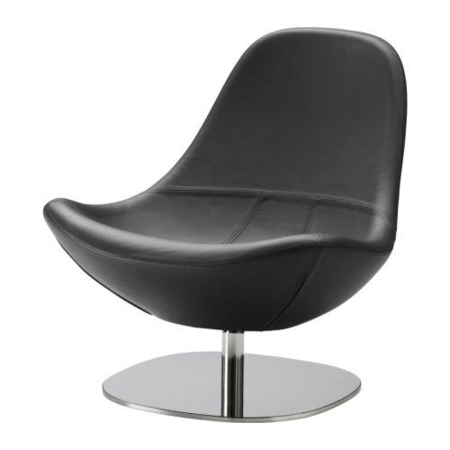 TIRUP Snurrfåtölj IKEA Mjukt, slitstarkt och lättskött läder som är praktiskt för barnfamiljen. Du sitter bekvämt tack vare den extra breda sitsen.
