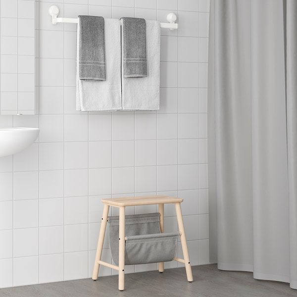 TISKEN Handdukshängare med sugpropp, vit