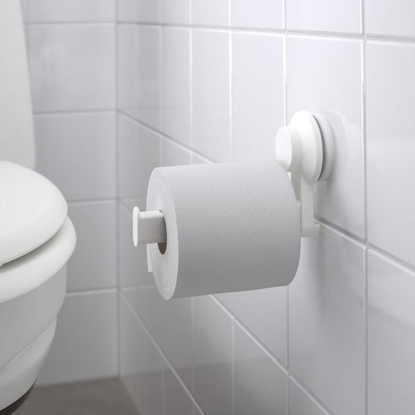 TISKEN Toalettpappershållare med sugpropp, vit