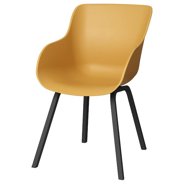 TORVID Stol, inom-/utomhus gul/aluminium svart