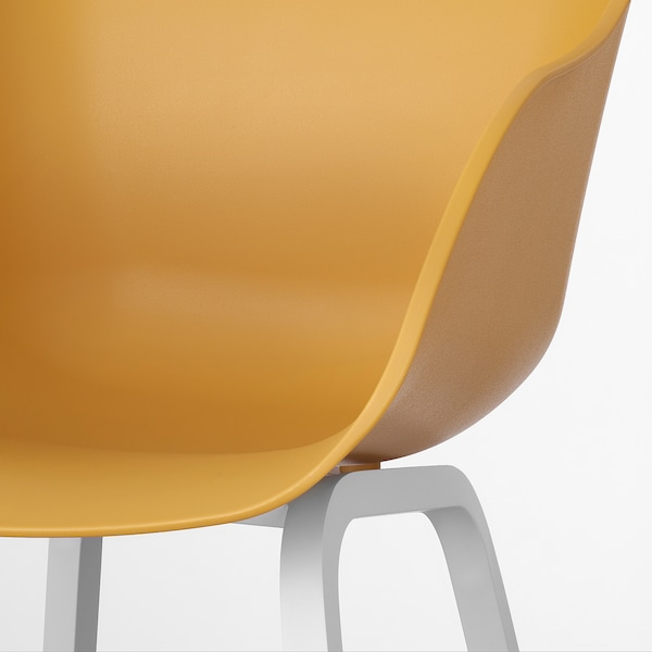 TORVID Stol, inom-/utomhus gul/aluminium vit