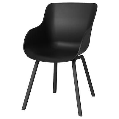 TORVID Stol, inom-/utomhus svart/aluminium svart