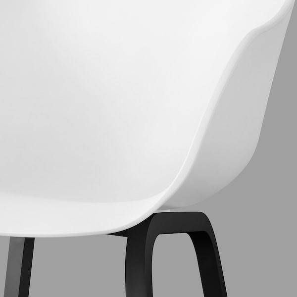 TORVID Stol, inom-/utomhus vit/aluminium svart
