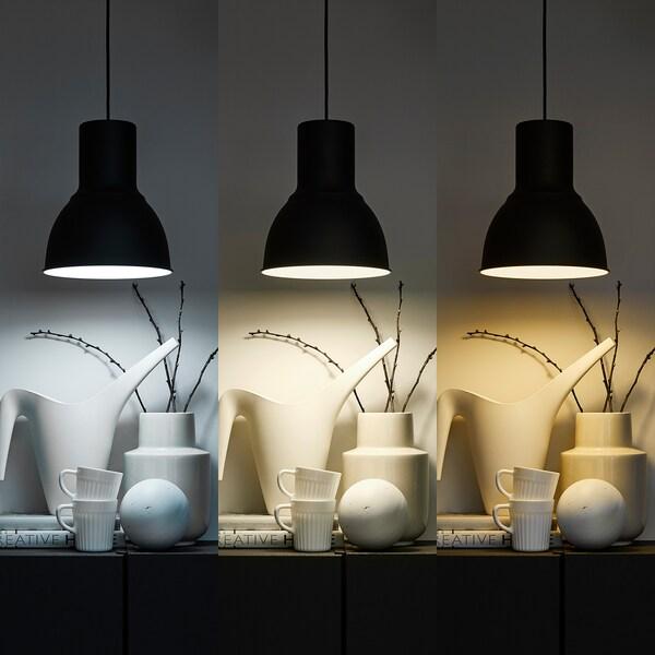 TRÅDFRI LED ljuskälla E27 1000 lumen trådlös dimbar vitt spektrum /klot opalvit 1000 lumen 2700 K 12 cm 6 mm 11 W