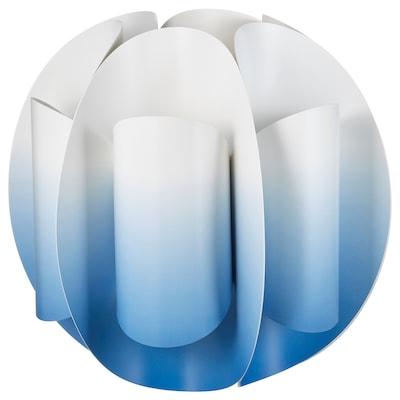 TRUBBNATE Taklampskärm, vit/blå, 38 cm