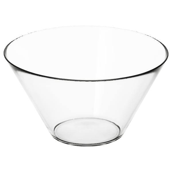 TRYGG Serveringsskål, klarglas, 28 cm