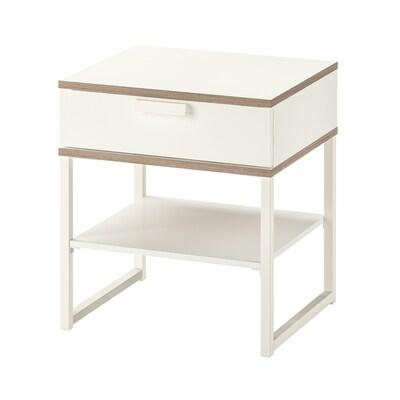 TRYSIL Avlastningsbord, vit/ljusgrå, 45x40 cm