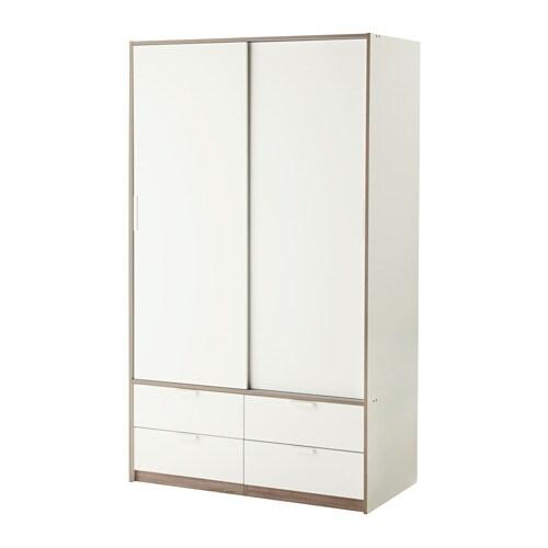 TRYSIL Garderob med skjutdörrar 4 lådor IKEA