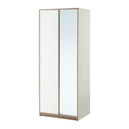 TRYSIL garderob vit och spegelglas