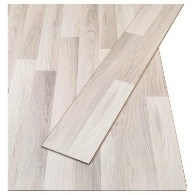 TUNDRA Laminatgolv, ekmönstrad ljusgrå/vit, 2.25 m²