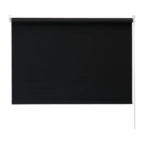 TUPPLUR Rullgardin, svart Längd: 195 cm Bredd: 120 cm