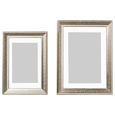UBBETORP Ram, set om 2, silverfärgad