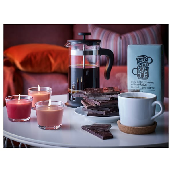 UPPHETTA Kaffe-/tepress, glas/rostfritt stål, 1 l