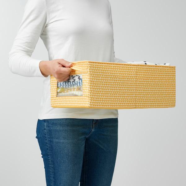 UPPRYMD Låda, gul, 25x44x17 cm