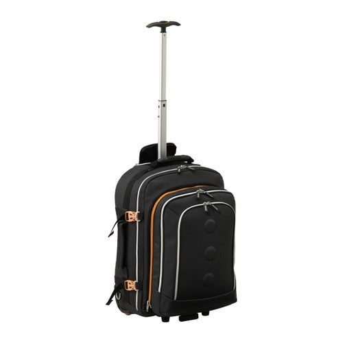 UPPTÄCKA Ryggsäck på hjul IKEA Med dragkedjan kan du lätt dela väskan i två ryggsäckar. Avskiljt vadderat fack för din bärbara dator.