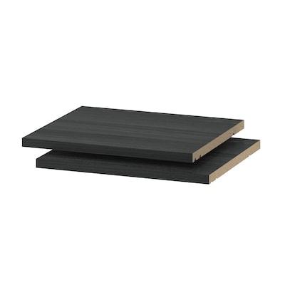 UTRUSTA Hyllplan, trämönstrad svart, 40x37 cm