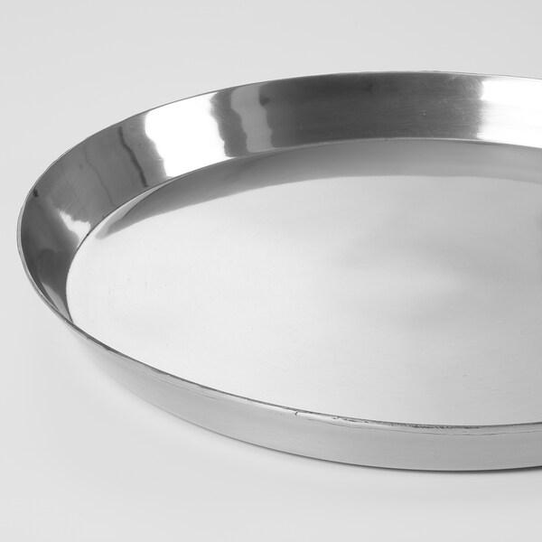 UTVÄNDIG Ljusfat, silverfärgad, 40 cm
