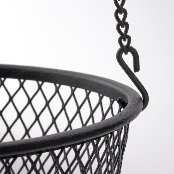 VADHOLMA Hängande förvaring, svart/nät, 25x63 cm