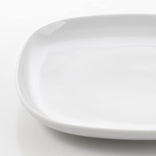 VÄRDERA Assiett, vit, 18x18 cm