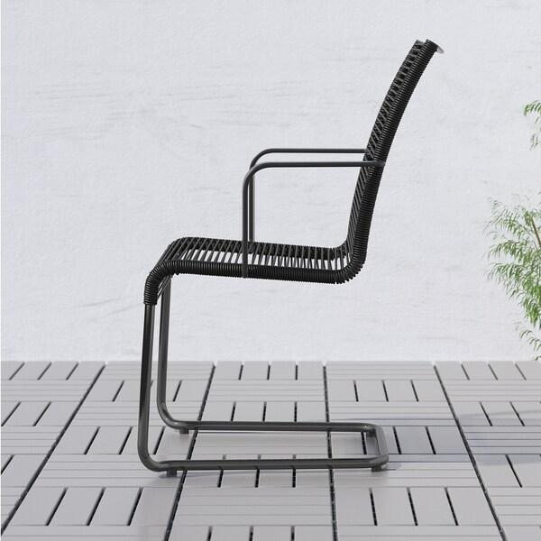 VÄSMAN Karmstol, utomhus, svart IKEA