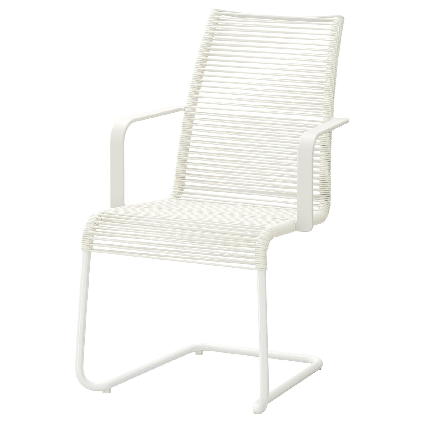 VÄSMAN Karmstol, utomhus, svart IKEA i 2020   Stol utomhus