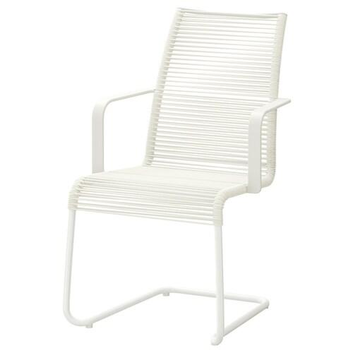 VÄSMAN Karmstol, utomhus, vit IKEA