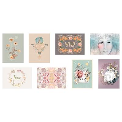 VÄXBO Konstkort, vilda blommor, 13x18 cm