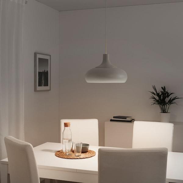 VÄXJÖ Taklampa, beige, 38 cm