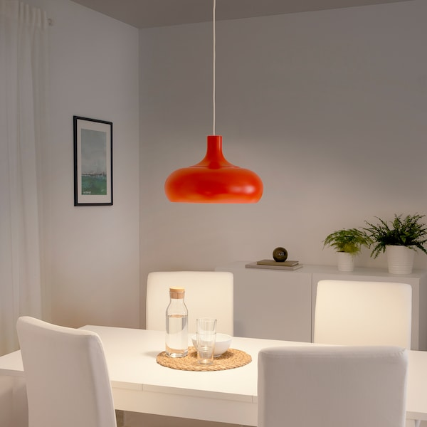VÄXJÖ Taklampa, orange, 38 cm IKEA