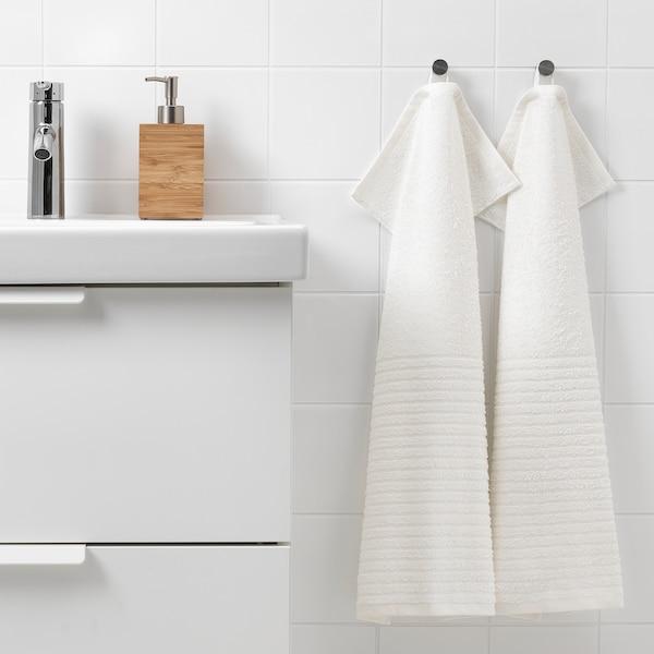 VÅGSJÖN Handduk, vit, 40x70 cm