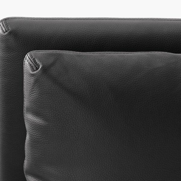 VALLENTUNA 3-sitsig modulsoffa med bäddsoffa, med öppet slut/Murum svart