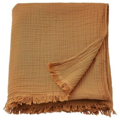 VALLKRASSING Pläd, mörk gyllenbrun, 150x200 cm
