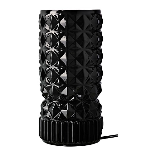 VANADIN Bordslampa , svart Diameter: 11 cm Höjd: 25 cm Sladdlängd: 1.8 m