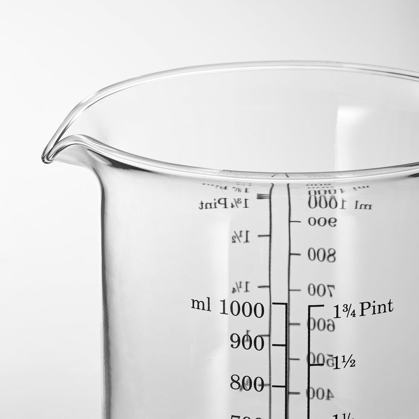 VARDAGEN Bringare med gradering, glas, 1.0 l