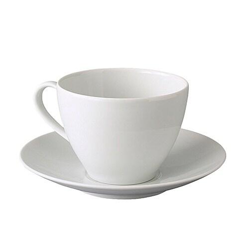 VÄRDERA Tekopp med fat IKEA Av fältspatporslin som gör koppen tålig mot stötar och därmed hållbar.