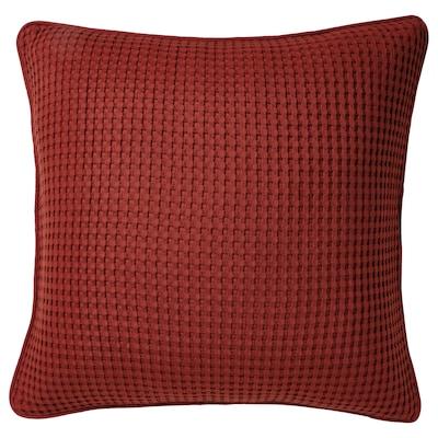 VÅRELD Kuddfodral, brunröd, 50x50 cm