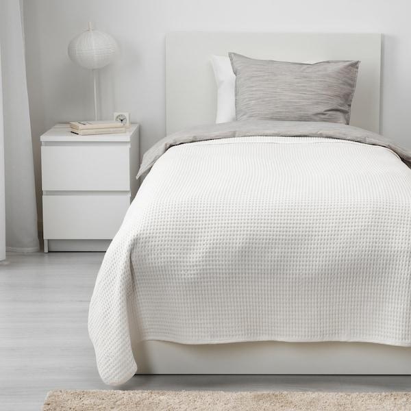 VÅRELD Överkast, vit, 150x250 cm