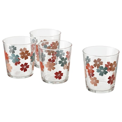 VÅRFINT Glas, glas/mönstrad, 30 cl