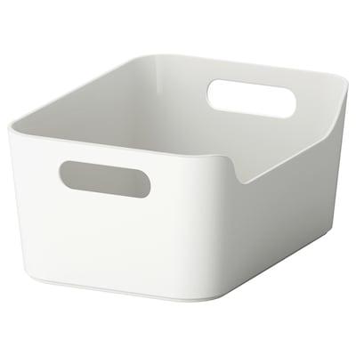 VARIERA Låda, grå, 24x17 cm