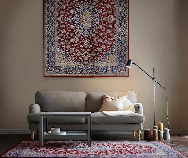 VEDBÄK Matta, kort lugg, flerfärgad, 200x300 cm