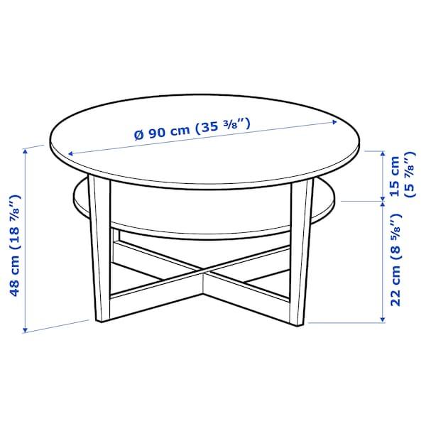 VEJMON Soffbord, svartbrun, 90 cm