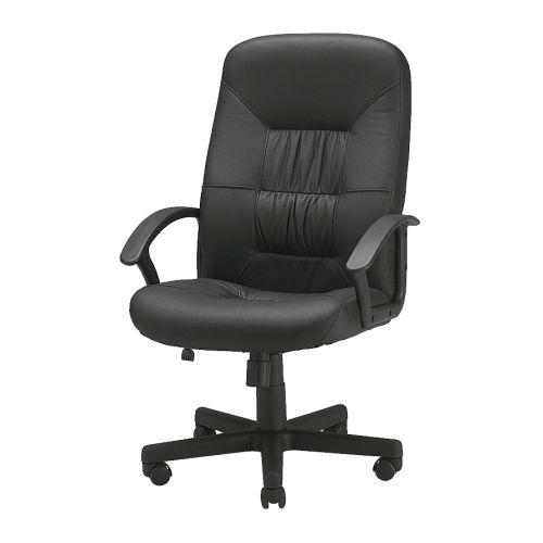 VERNER Arbetsstol svart Bredd: 62 cm Djup: 70 cm Min. höjd: 107 cm Max. höjd: 120 cm Sitsbredd: 52 cm Sitsdjup: 47 cm Min. sitshöjd: 43 cm Max. sitshöjd: 60 cm
