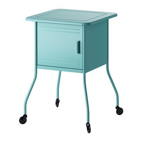 nattduksbord med grenuttag för mobilladdare IKEA
