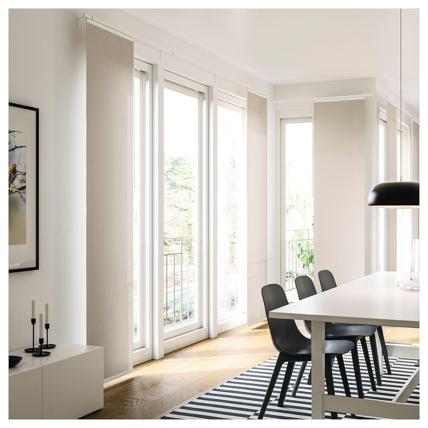 VIDGA Hållare för panelgardin, vit, 60 cm